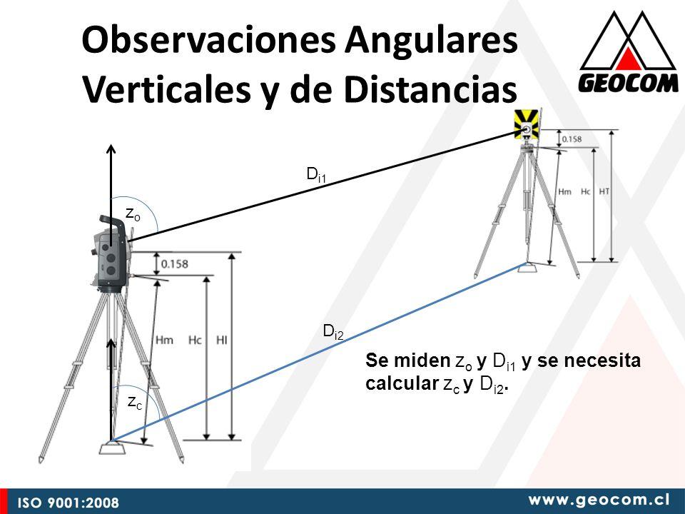 Observaciones Angulares Verticales y de Distancias