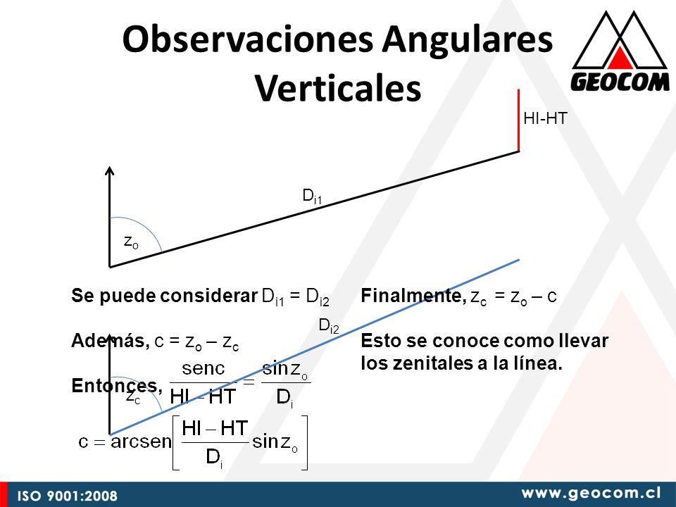 Observaciones Angulares Verticales