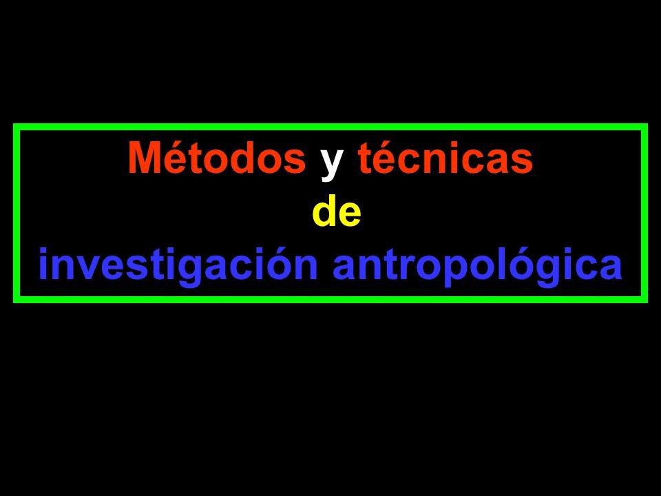 investigación antropológica