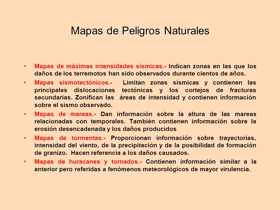 Mapas de Peligros Naturales