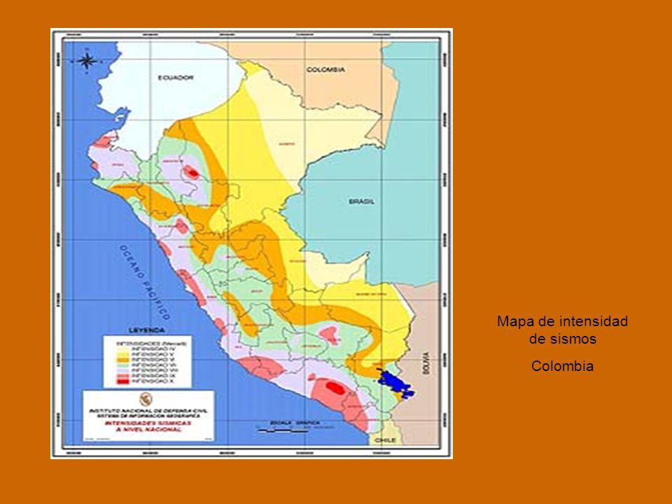 Mapa de intensidad de sismos