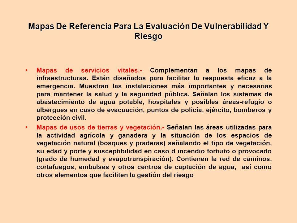 Mapas De Referencia Para La Evaluación De Vulnerabilidad Y Riesgo