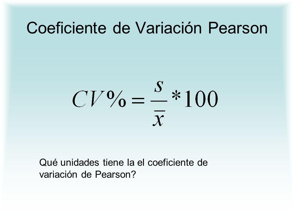 Coeficiente de Variación Pearson