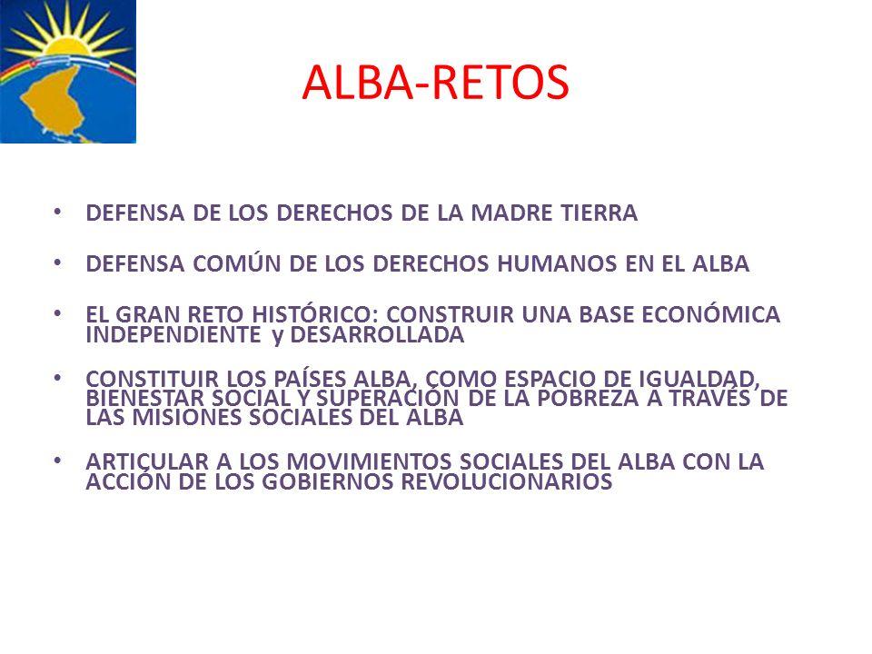 ALBA-RETOS DEFENSA DE LOS DERECHOS DE LA MADRE TIERRA