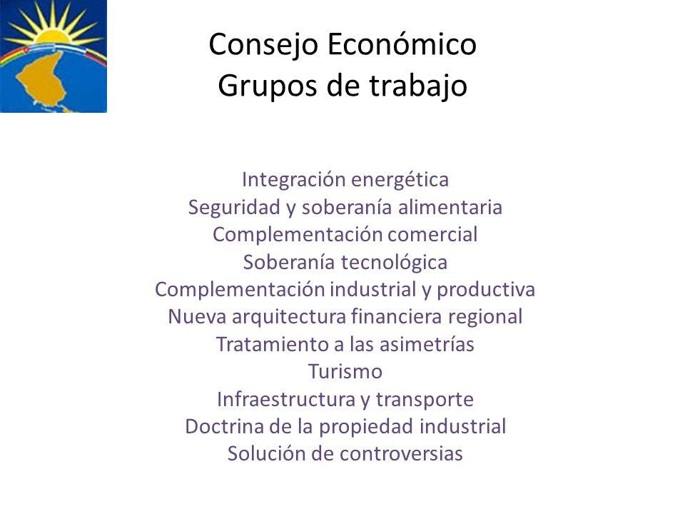 Consejo Económico Grupos de trabajo