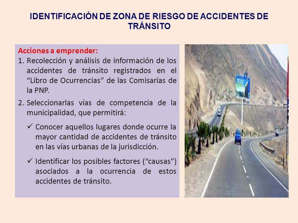 IDENTIFICACIÓN DE ZONA DE RIESGO DE ACCIDENTES DE TRÁNSITO