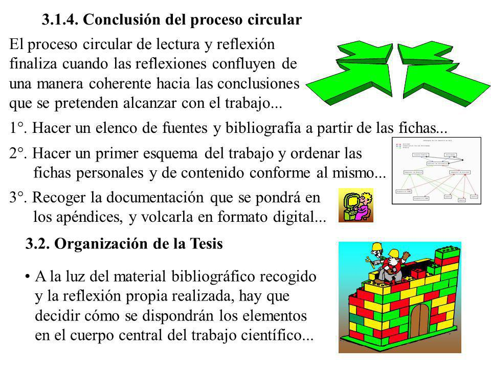 3.1.4. Conclusión del proceso circular