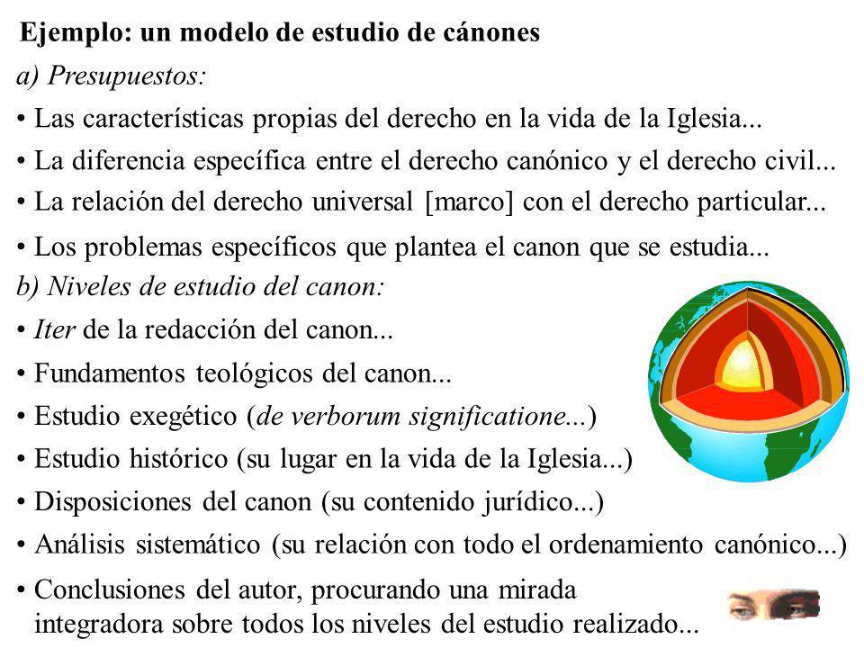 Ejemplo: un modelo de estudio de cánones