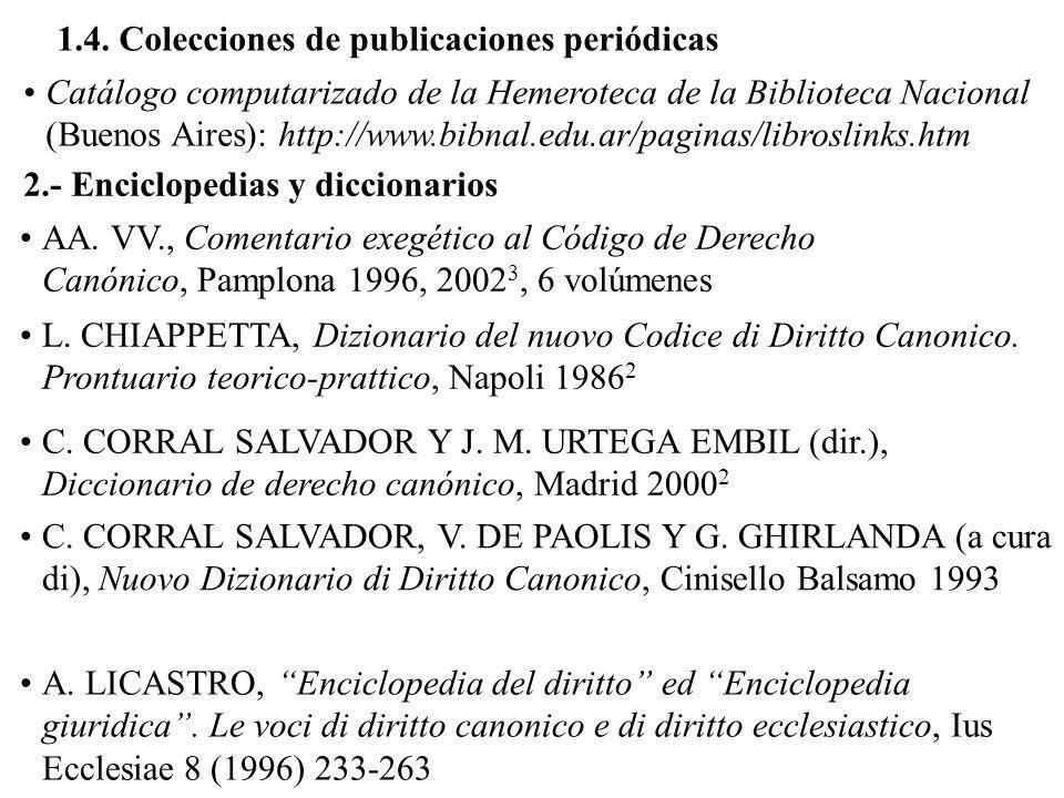 1.4. Colecciones de publicaciones periódicas