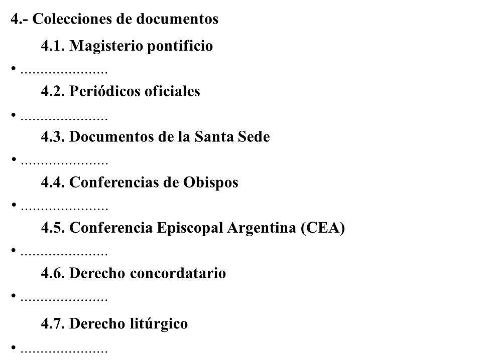 4.- Colecciones de documentos
