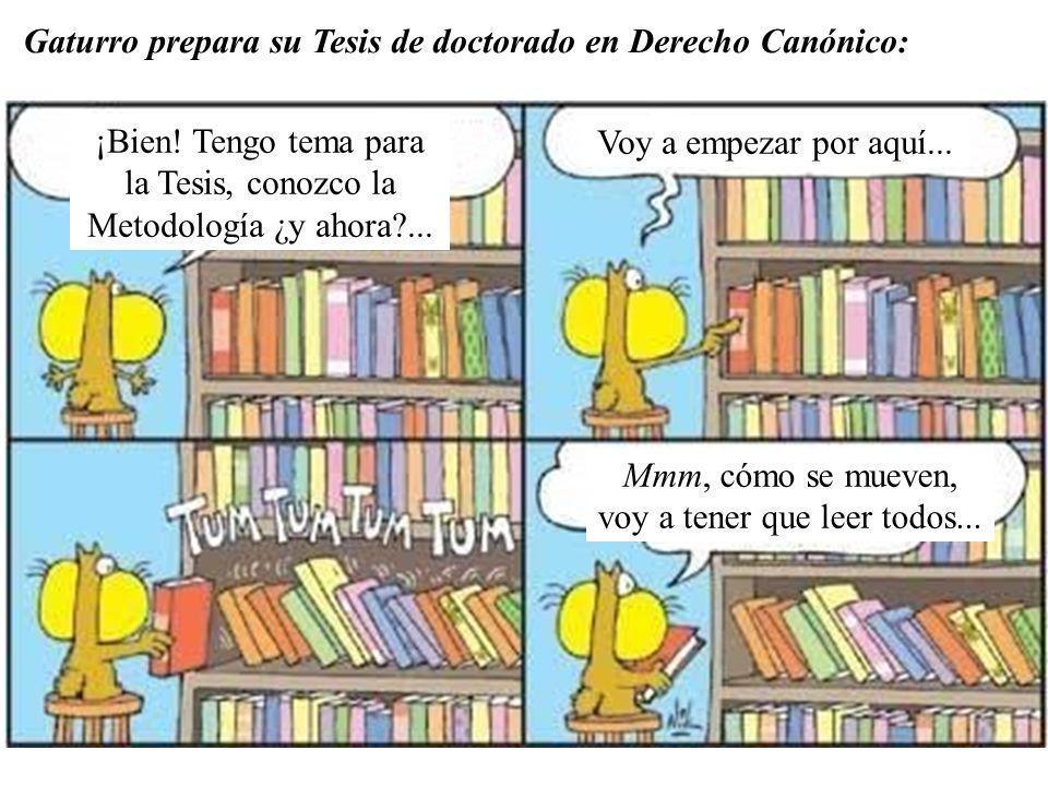 Gaturro prepara su Tesis de doctorado en Derecho Canónico: