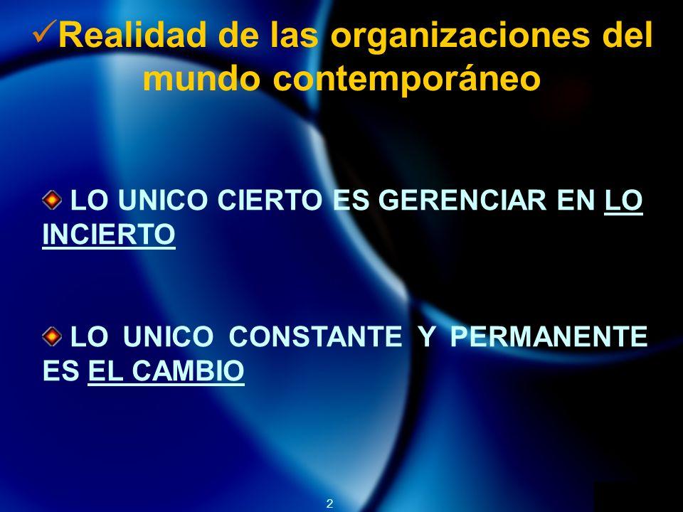 Realidad de las organizaciones del mundo contemporáneo