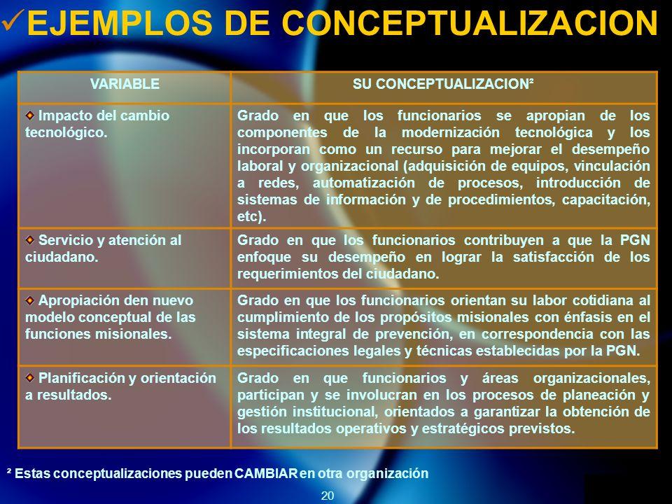 EJEMPLOS DE CONCEPTUALIZACION