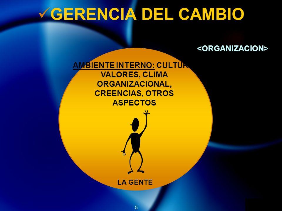 GERENCIA DEL CAMBIO <ORGANIZACION>