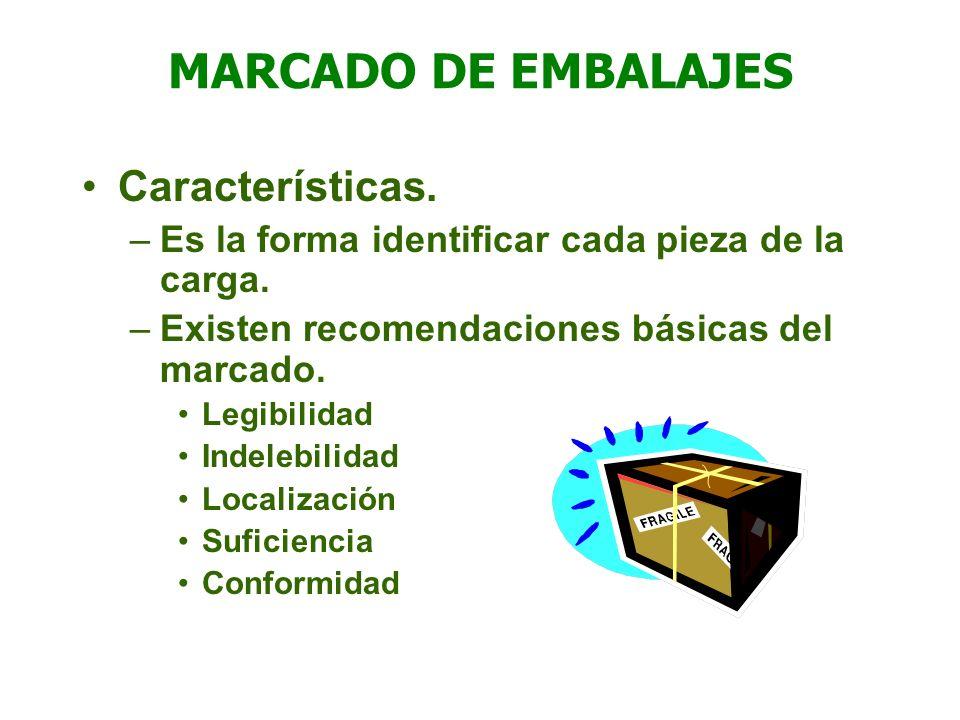 MARCADO DE EMBALAJES Características.