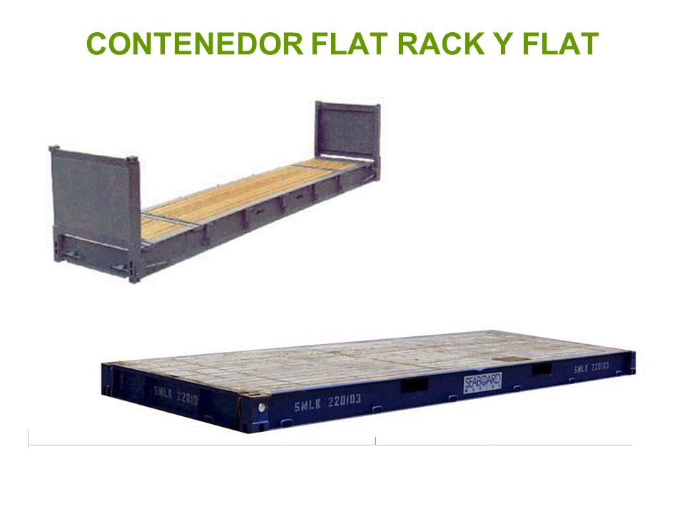 CONTENEDOR FLAT RACK Y FLAT