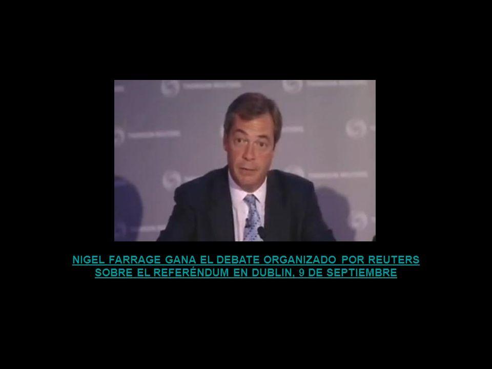 NIGEL FARRAGE GANA EL DEBATE ORGANIZADO POR REUTERS