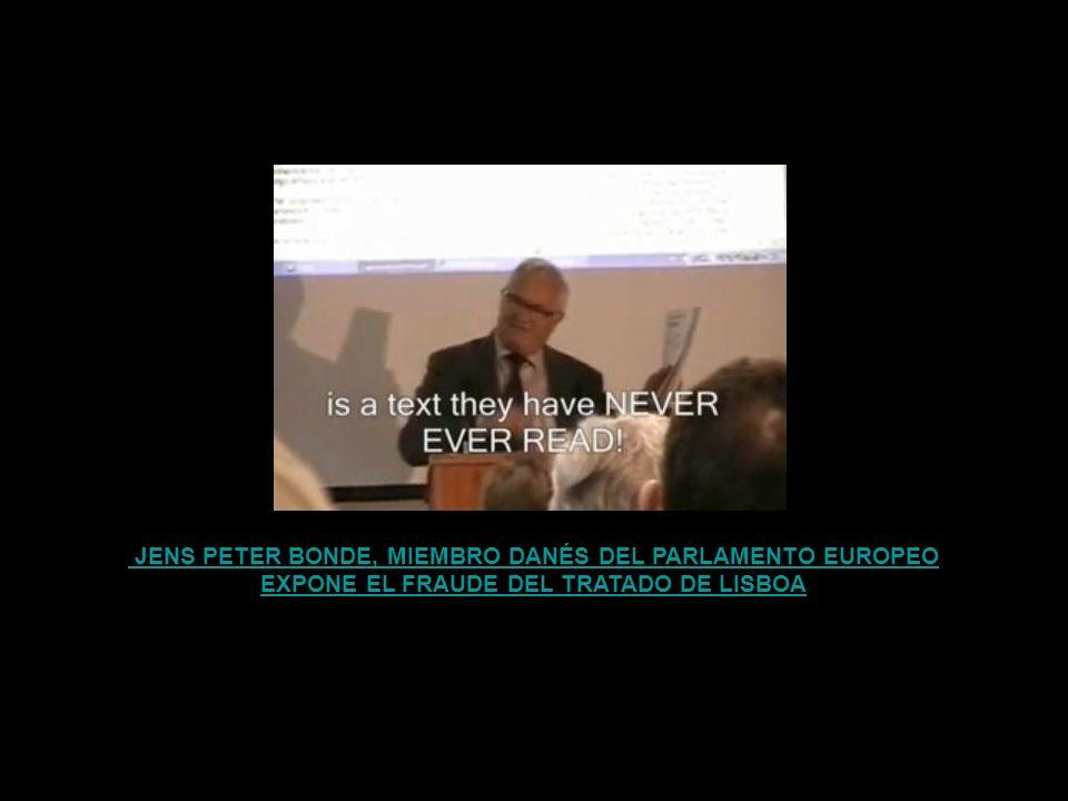 EXPONE EL FRAUDE DEL TRATADO DE LISBOA