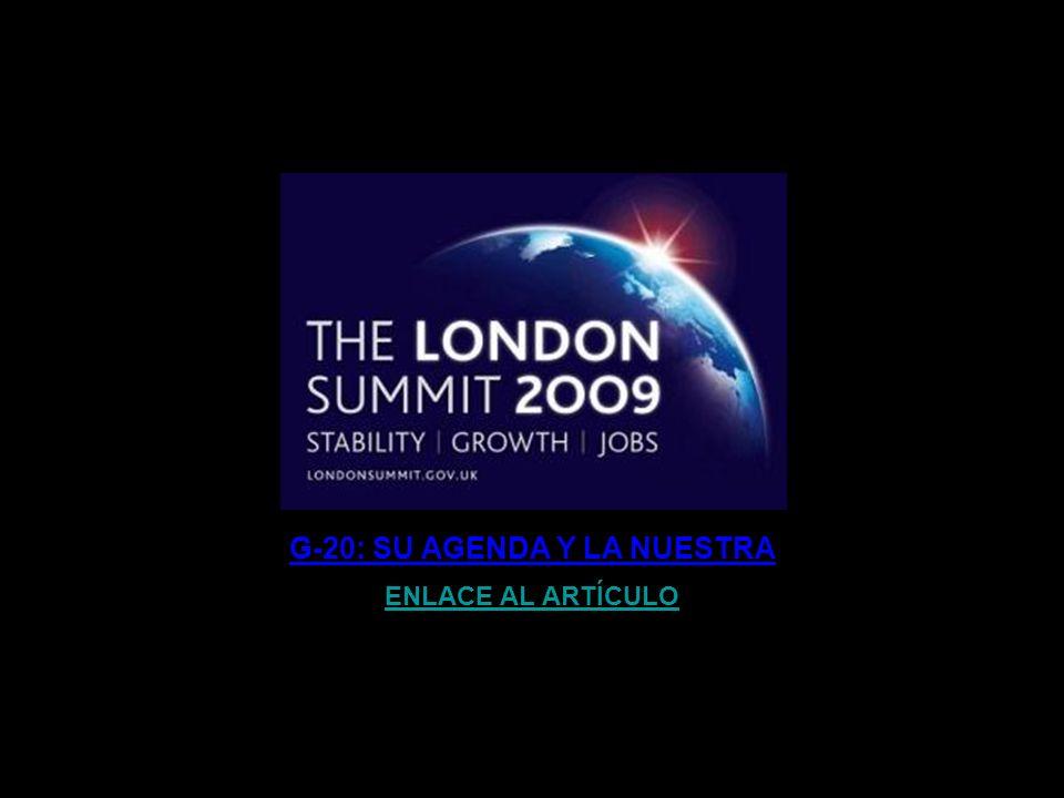 G-20: SU AGENDA Y LA NUESTRA
