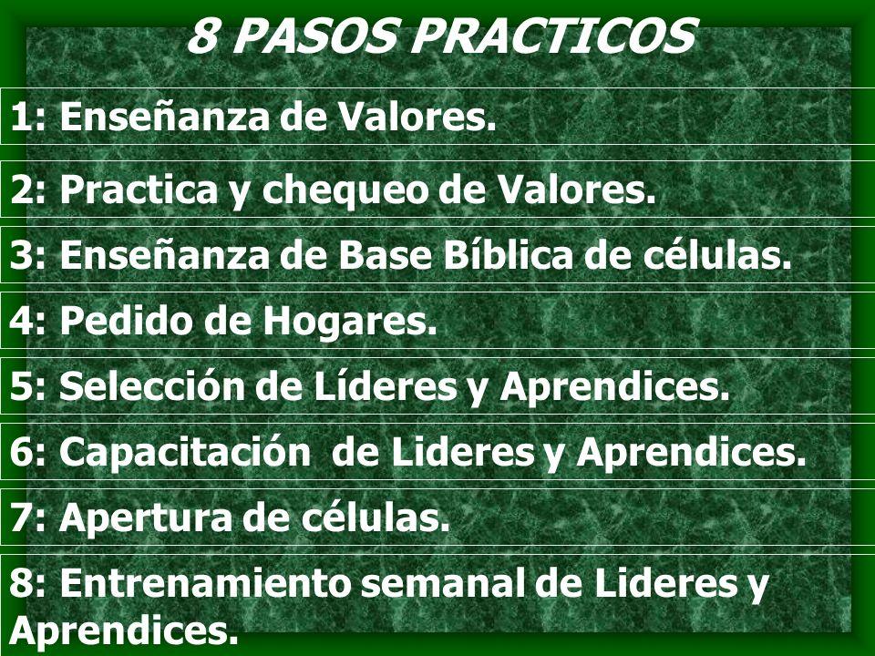 8 PASOS PRACTICOS 1: Enseñanza de Valores.