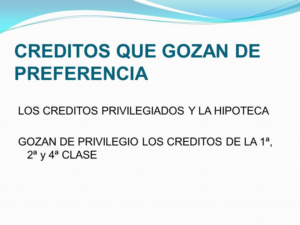 CREDITOS QUE GOZAN DE PREFERENCIA