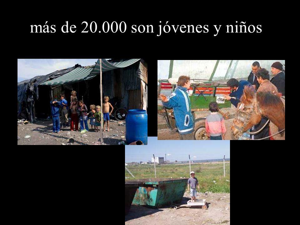 más de 20.000 son jóvenes y niños