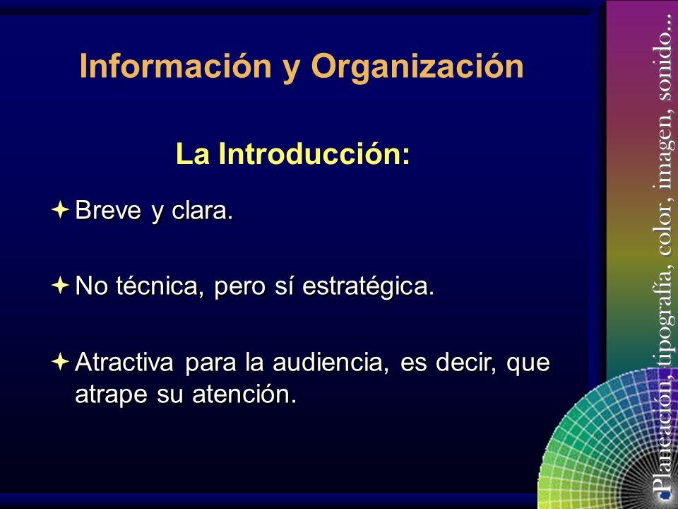 Información y Organización
