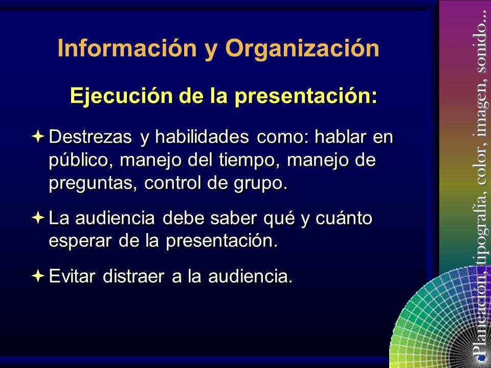 Ejecución de la presentación: