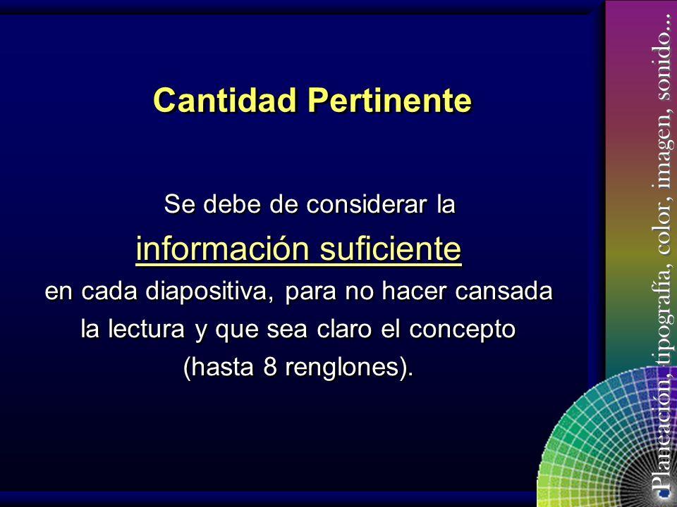 información suficiente