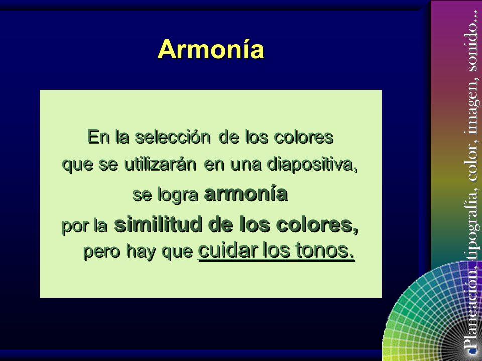 Armonía En la selección de los colores