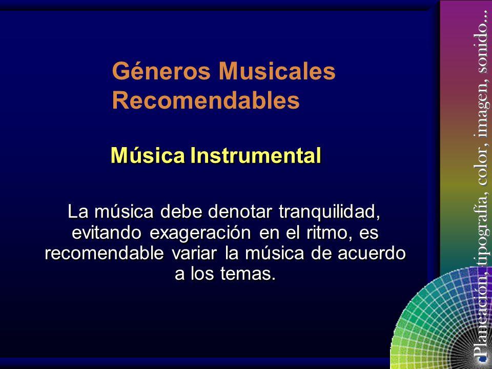 Géneros Musicales Recomendables