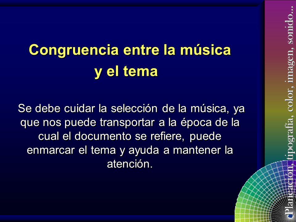 Congruencia entre la música