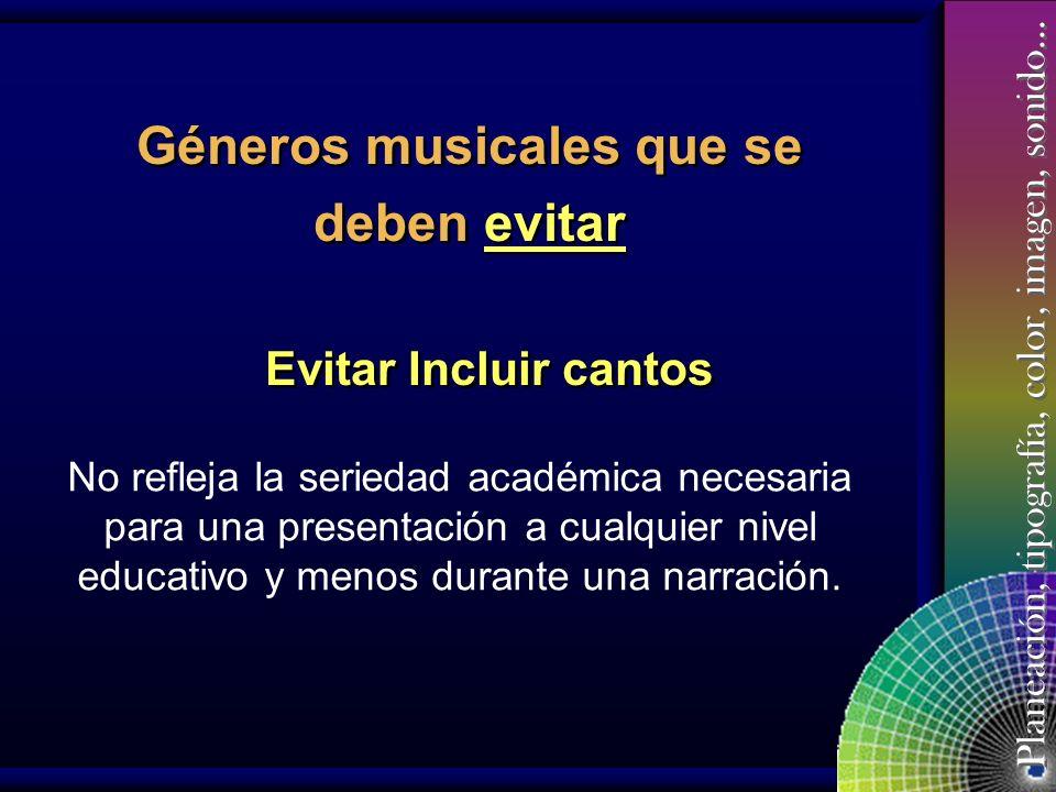 Géneros musicales que se