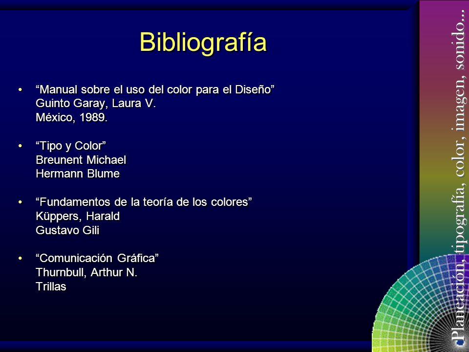 Bibliografía Manual sobre el uso del color para el Diseño