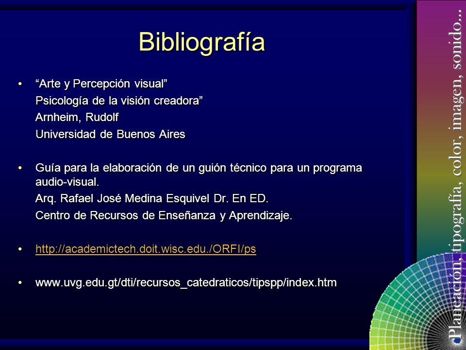 Bibliografía Arte y Percepción visual