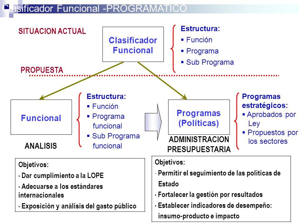 Clasificador Funcional -PROGRAMATICO