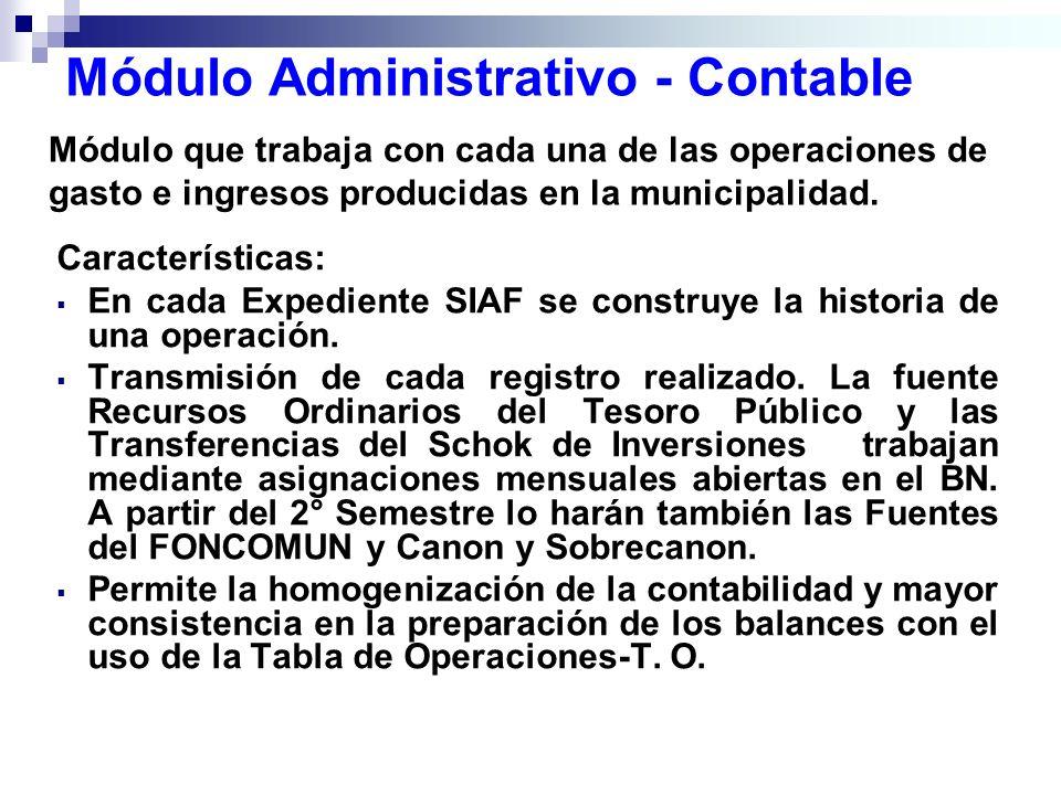 Módulo Administrativo - Contable