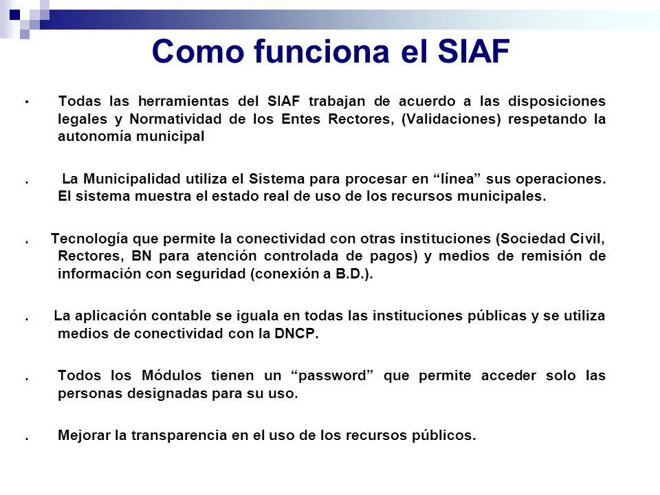 Como funciona el SIAF