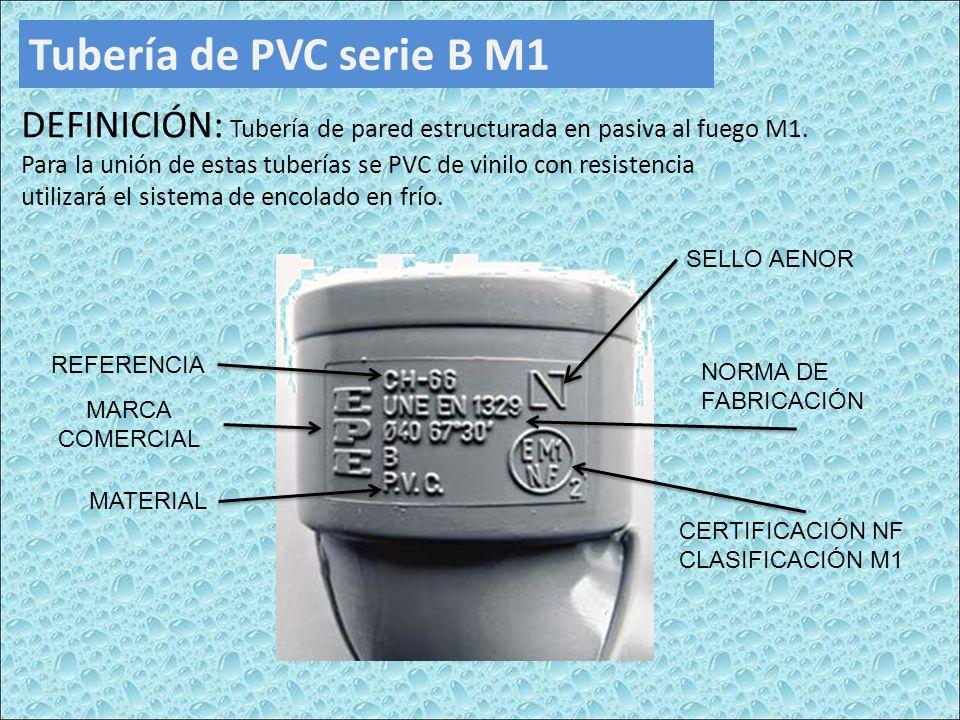 Tubería de PVC serie B M1