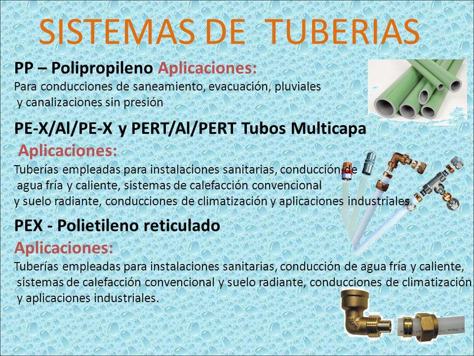 SISTEMAS DE TUBERIAS PP – Polipropileno Aplicaciones: