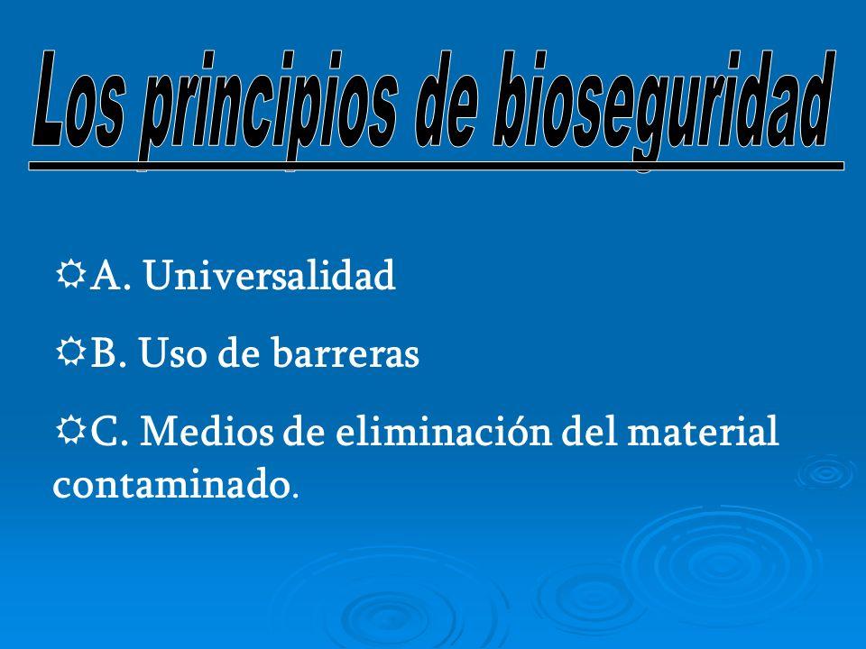 Los principios de bioseguridad
