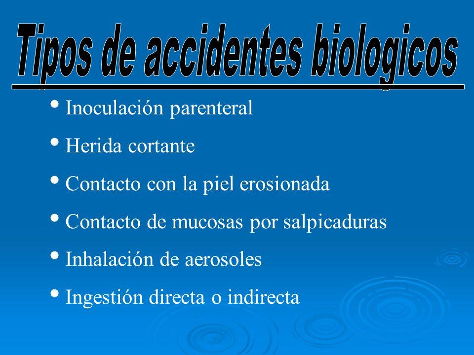 Tipos de accidentes biologicos