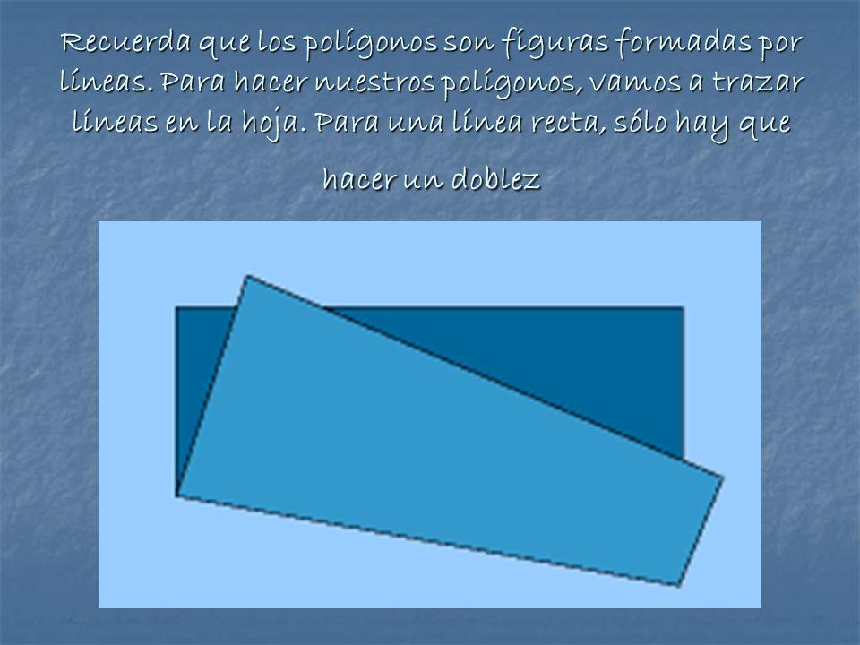 Recuerda que los polígonos son figuras formadas por líneas