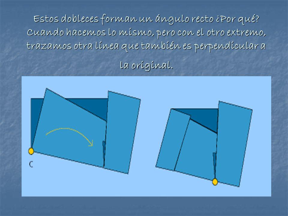 Estos dobleces forman un ángulo recto ¿Por qué