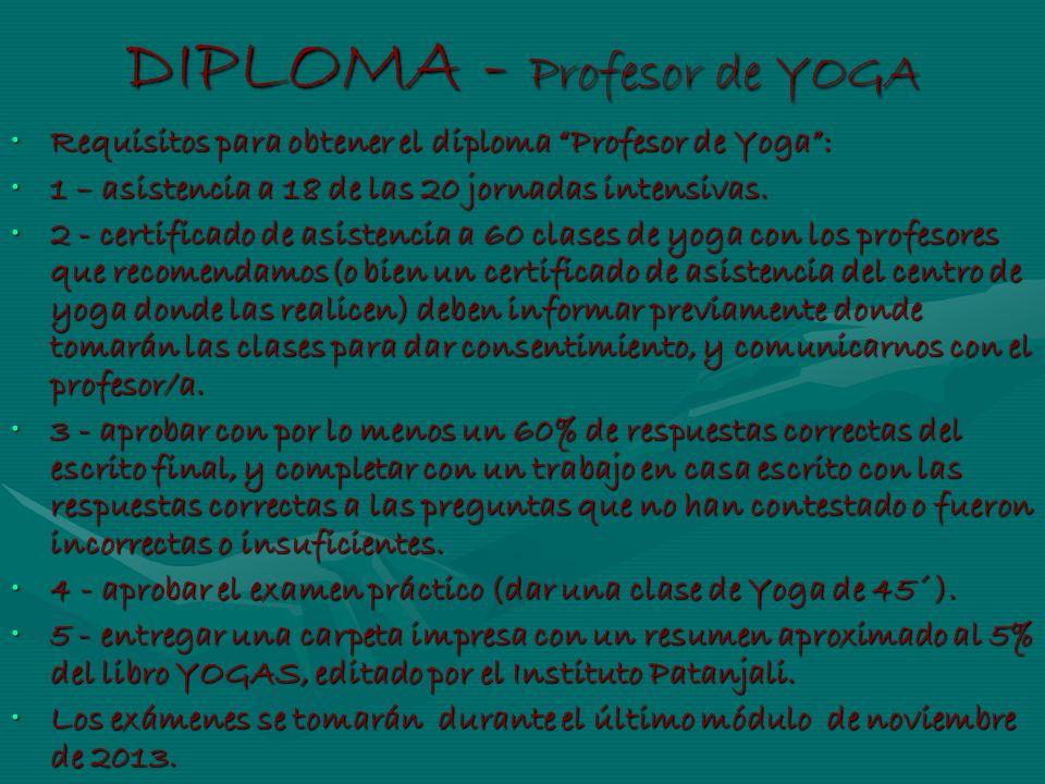 DIPLOMA - Profesor de YOGA