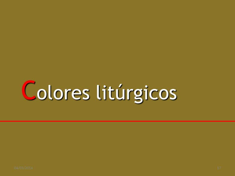 Colores litúrgicos 29/03/2017