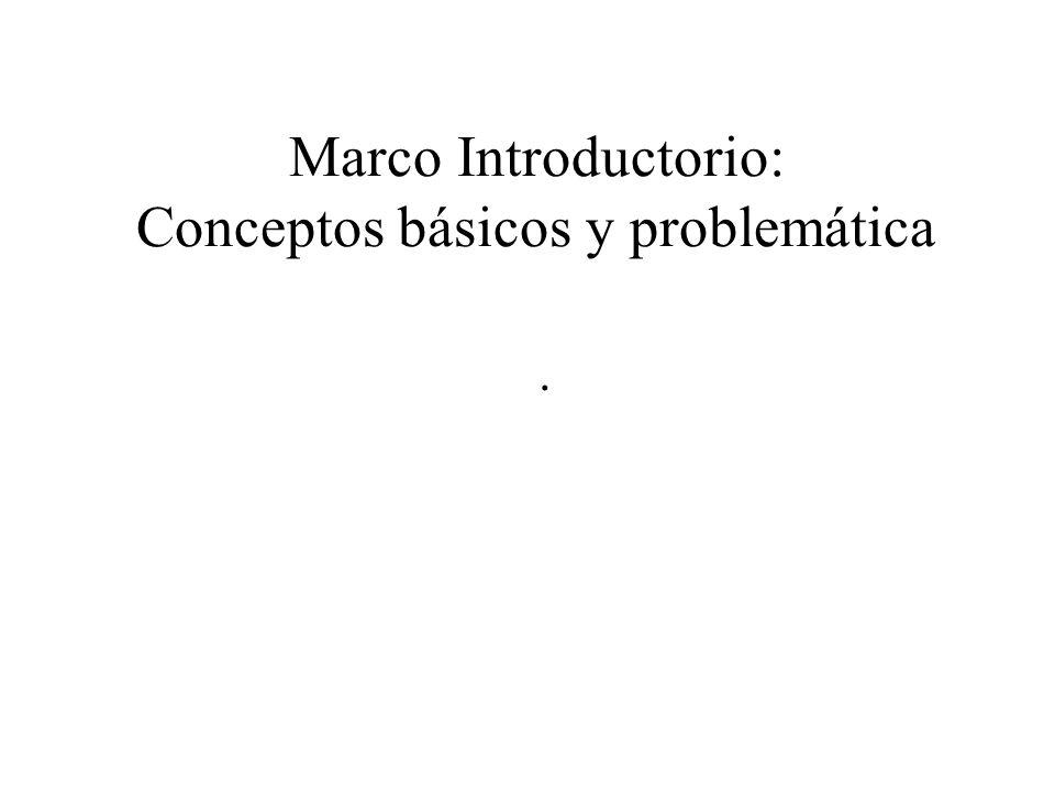 Marco Introductorio: Conceptos básicos y problemática