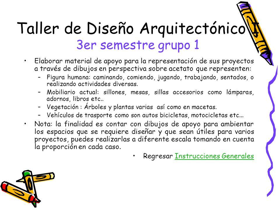 Taller de Diseño Arquitectónico I 3er semestre grupo 1