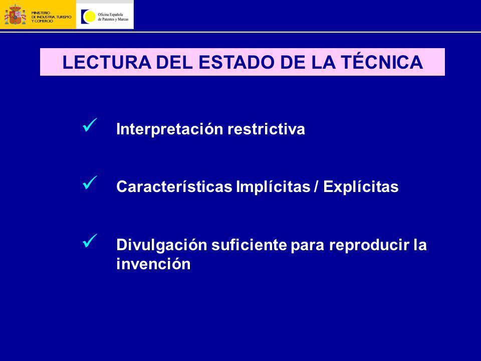 LECTURA DEL ESTADO DE LA TÉCNICA