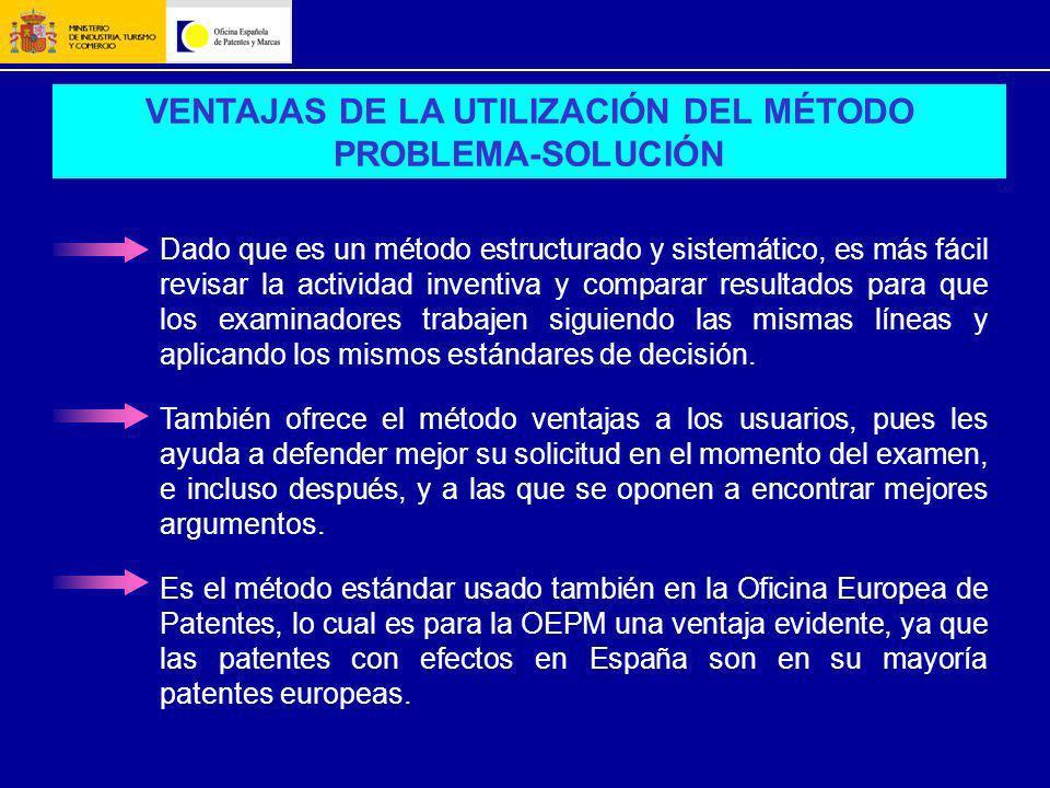 VENTAJAS DE LA UTILIZACIÓN DEL MÉTODO PROBLEMA-SOLUCIÓN
